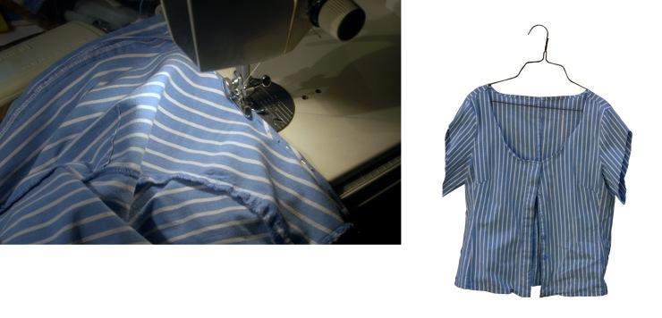 sew new neckline,sleeves